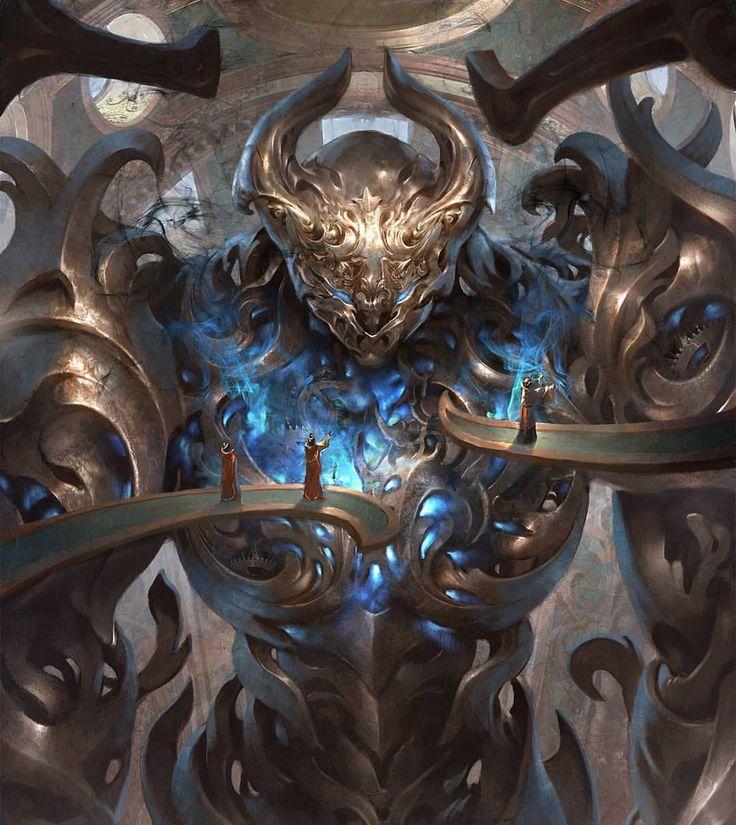 Sundering Titan - Aether Revolt MtG Art