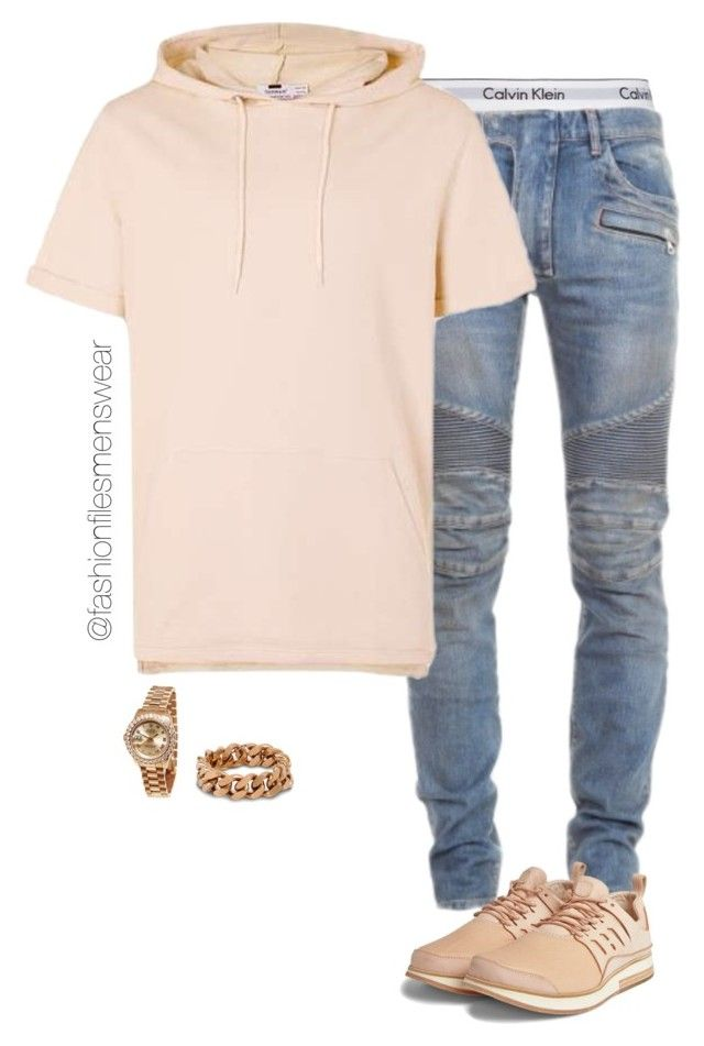 """Untitled #2519"" by highfashionfiles ❤ liked on Polyvore featuring Calvin Klein Underwear, Balmain, STELLA McCARTNEY, Rolex, men's fashion and menswear"
