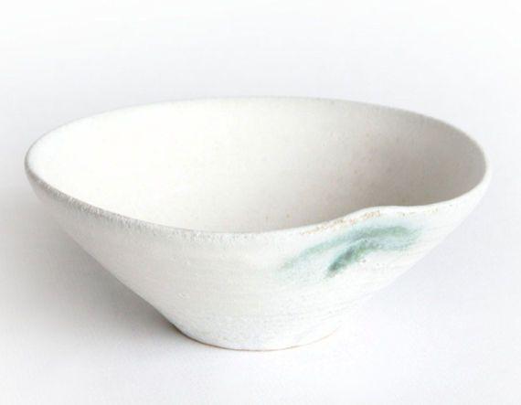 Cremy white Bowl Handmade ceramics by RzucidloCeramics on Etsy
