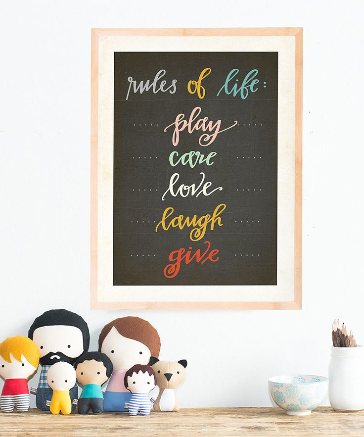 Rules of Life' Print