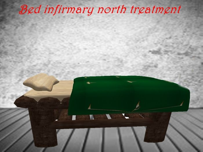 Infirmary bed for treatment