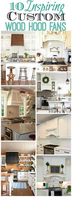 Thinking of doing a wood hood fan in your kitchen Here are ten beautiful and inspiring kitchens with custom wood hood fans