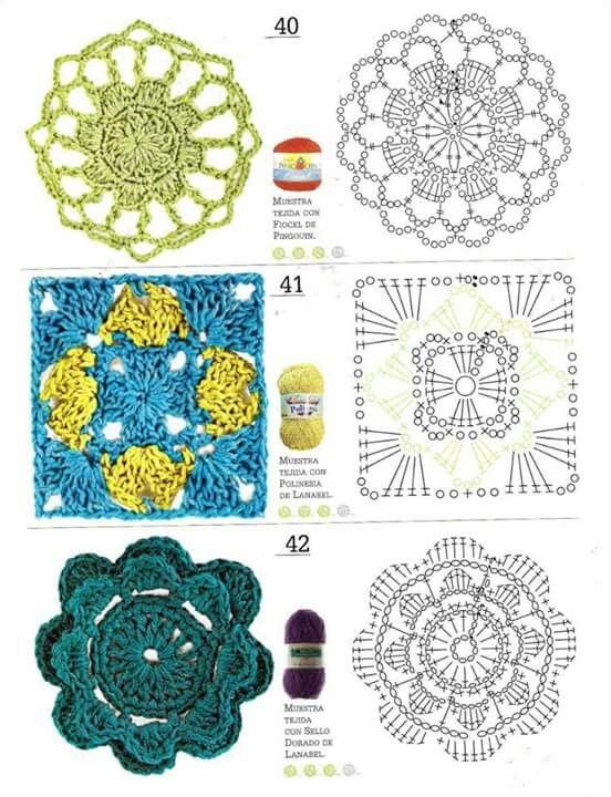 50 mejores imágenes de Módulos y flores ganchillo en Pinterest ...