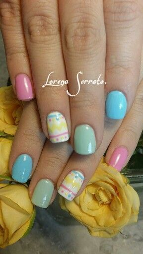 Easter-Eggs | Easy Easter Nail Designs for Short Nails | Cute Spring Nail Art Ideas for Kids