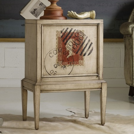 Bring a dash of world-traveling aesthetic to your living room or den with the charming chest.