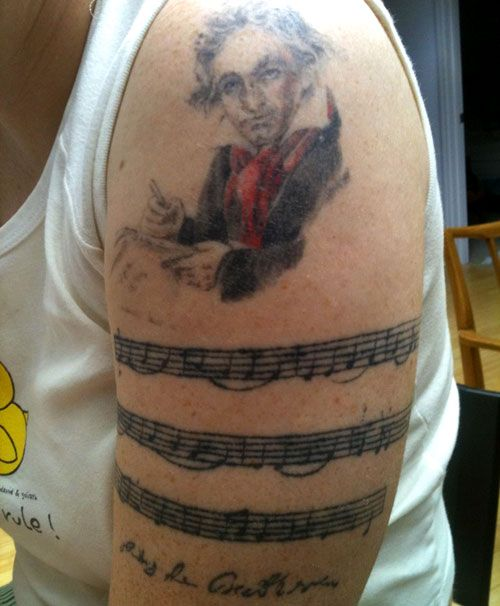 Best 25+ Music Staff Tattoo Ideas On Pinterest