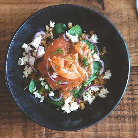 salada de salmão curado, lentilha vermelha e agrião   Francinha Cooks