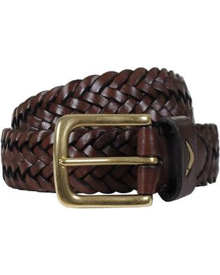 Boomerang Plaited Belt Brown