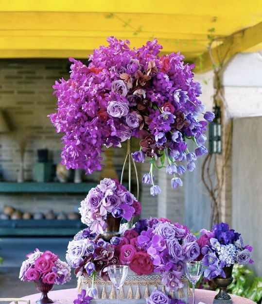Purple centerpiece centerpieces pinterest