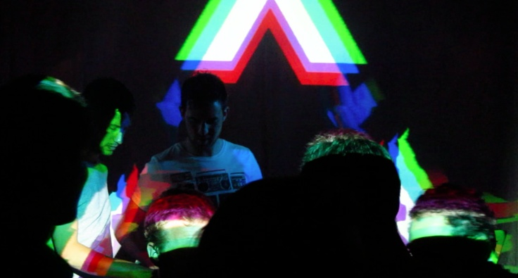 vj gig with the Filthy Eights