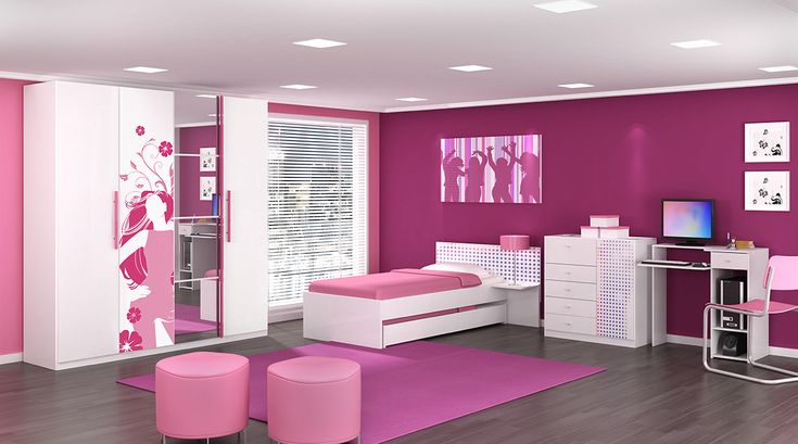quarto feminino rosa Pesquisa Google Bedroom  ~ Quarto Rosa Pink