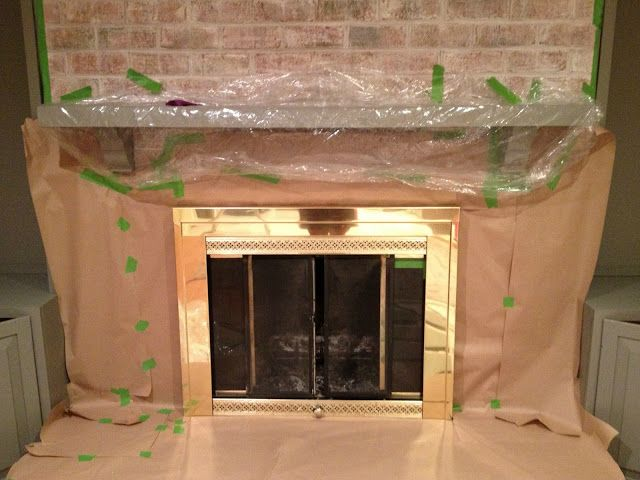 How to paint a brick fireplace remodeling pinterest - How to cover brick fireplace ...