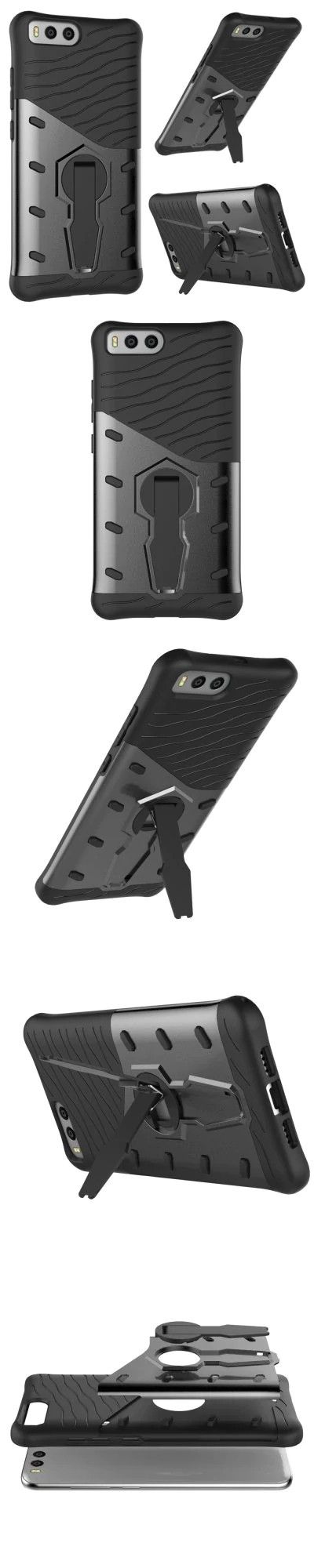 Shockproof with Stand 360 Rotation Back Cover Contrast Color Hard PC Case for Xiaomi 6 -$5.14