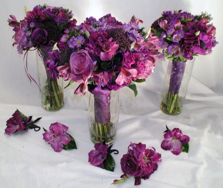 Edens Bower Florists Shades Of Purple Wedding