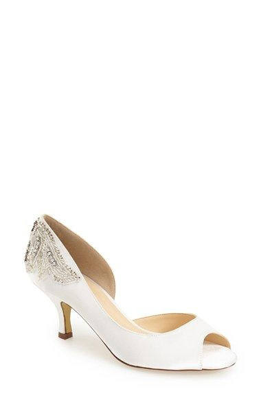 pink paradox london 'Finery' Embellished Half d'Orsay Pump (Women) available at #Nordstrom