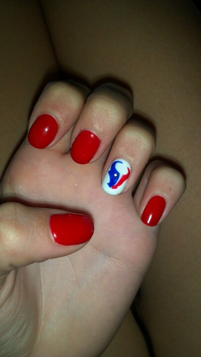#Houston #Texans #nails! #Shellac     sweet escape nail lounge. Sugar land, Tx.   THE best salon in my area. Looove it there.