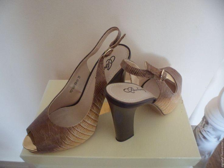 Купить ЖЕНСКИЕ ТУФЛИ ИЗ ЗМЕИНОЙ КОЖИ - бежевый, вечерние туфли, туфли женские