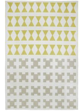 Kurzflor-Kunststoff In- & Outdoor Teppich Paris Gelb 167x250 cm