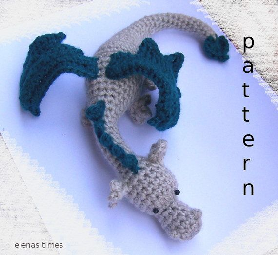 Crochet Baby Dragon-Instant Download Crochet от ElenasTimes                                                                                                                                                                                 More