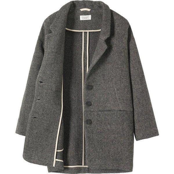 LISEL JACKET (€350) ❤ liked on Polyvore featuring outerwear, jackets, coats, coats & jackets, short jacket, collar jacket, long blazer jacket and wool blend jacket