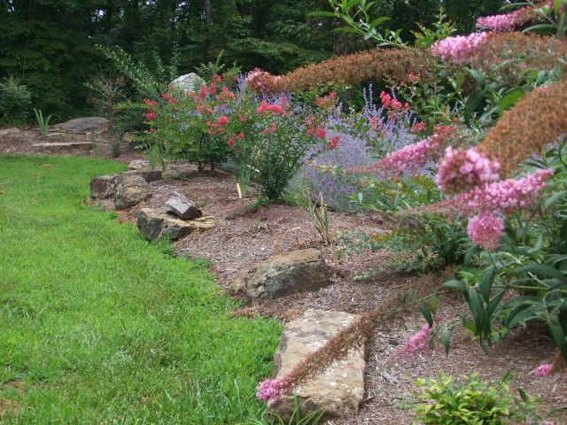 24 best places to use mulch images on pinterest backyard for No maintenance flowering shrubs