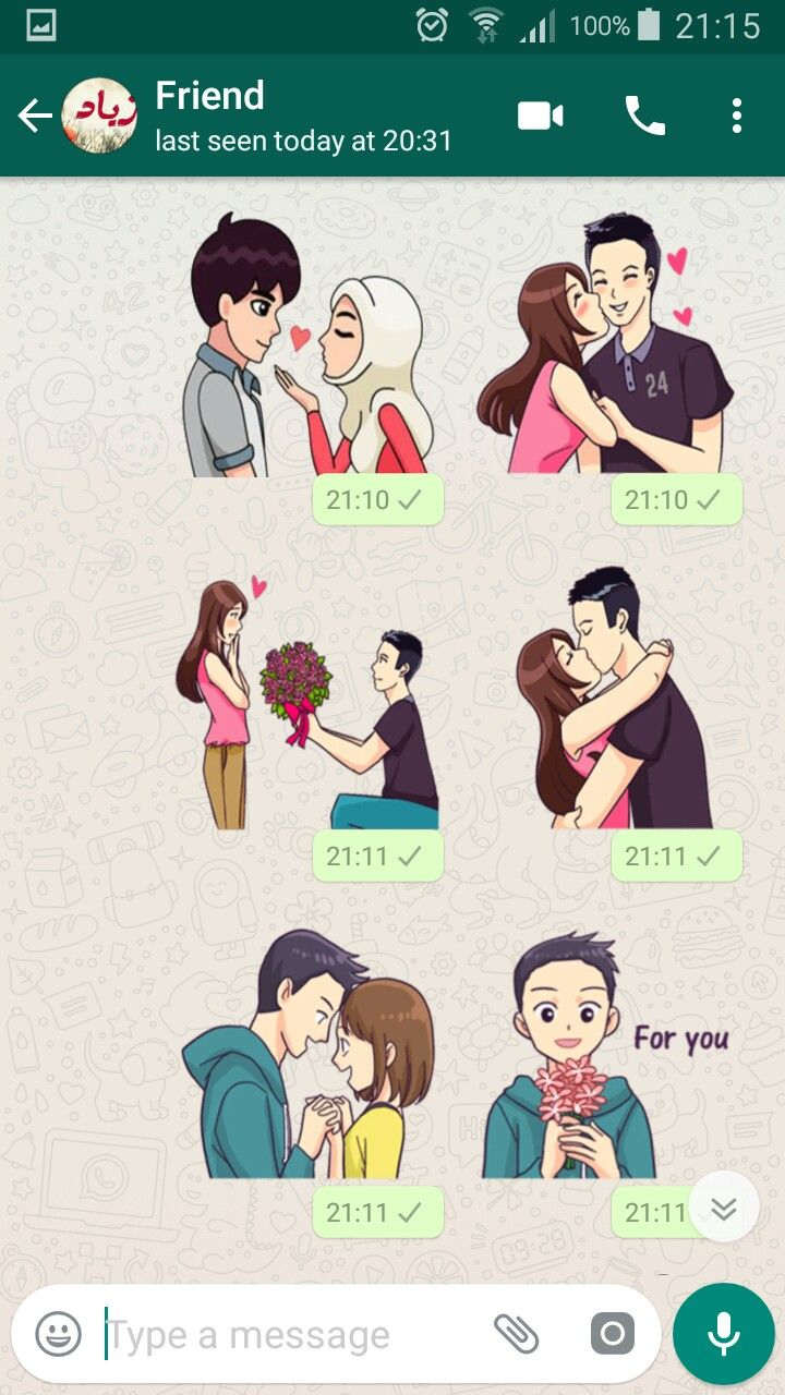 Pin by Top Stickers on Love Stickers For Whatsapp