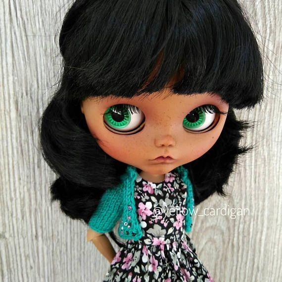 Blythe benutzerdefinierte PUPPE schwarze Haare Bräune Haut SONDERANGEBOT -25%