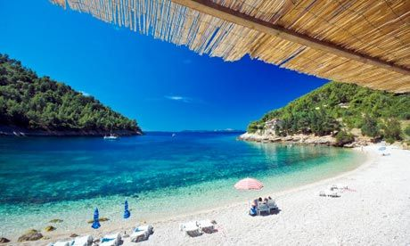 Pupnatska beach, Korcula island, Croatia: Croatia, officially the Republic of Croatia, is a unitary democratic parliamentary republic in Europe at the crossroads of Central Europe, the Balkans, and the Mediterranean. Its capital and largest city is Zagreb.