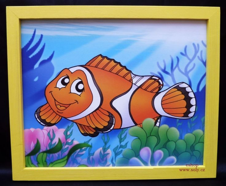 pohádkove detske kreslene obrazky do dětského pokoje,  ryba. 249,-  Kč eshop www.soly.cz