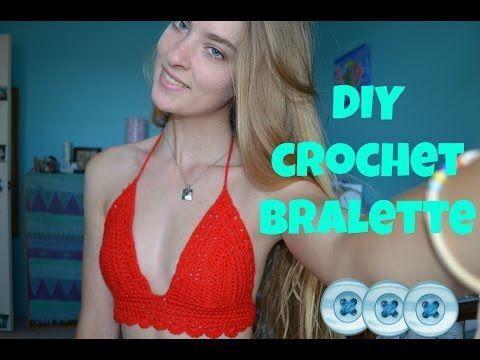 how to crochet a bralette - YouTube