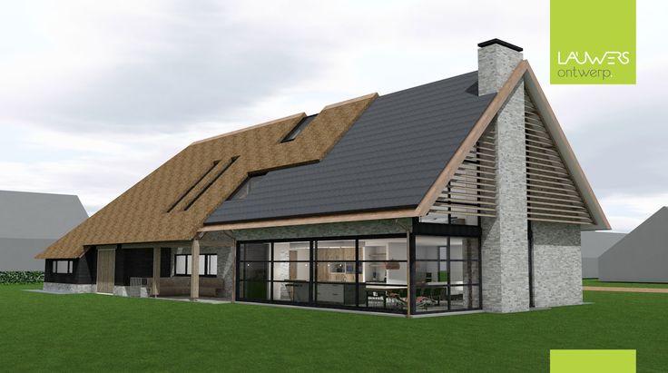 25 beste idee n over moderne boerderijen op pinterest moderne boerenwoning decor rustieke - Moderne buitenkant indeling ...
