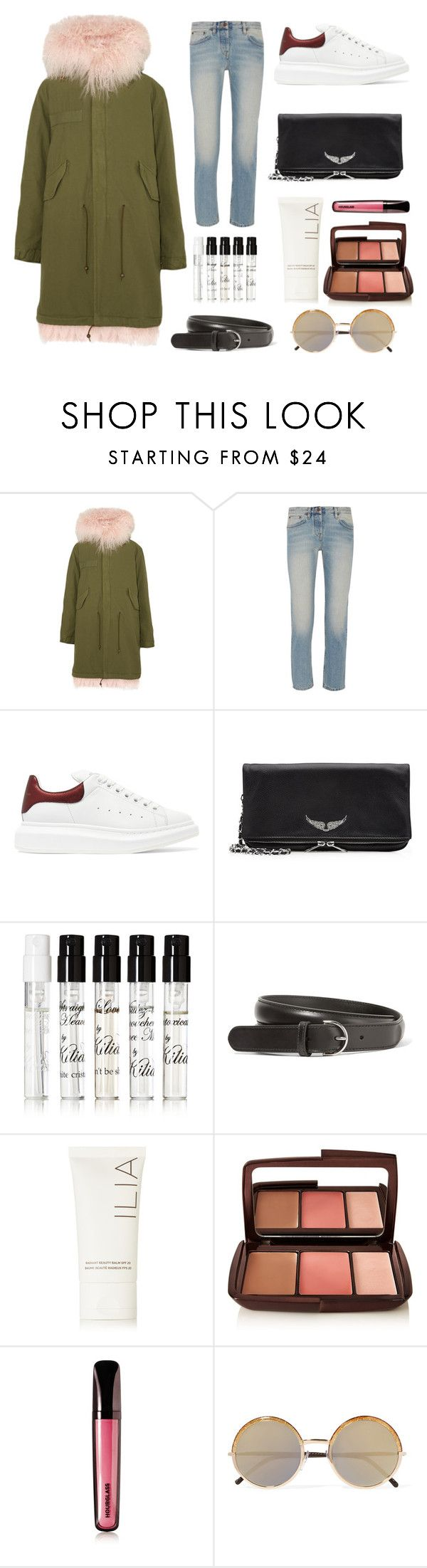 """PRE-FALL/WINTER 2016-2017"" by alice-cxii ❤ liked on Polyvore featuring Mr & Mrs Italy, The Row, Alexander McQueen, Zadig & Voltaire, Kilian, Acne Studios, Ilia, Hourglass Cosmetics and Cutler and Gross"