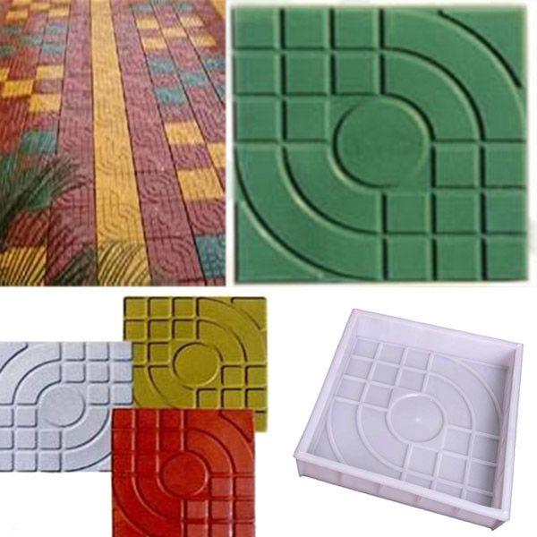 2pcs Square Garden DIY Walking Path Maker Paving Cement Brick Mold