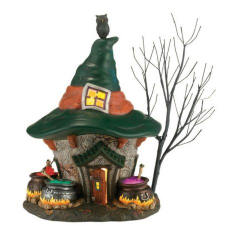 Three Witches Cauldron Haunted House www.teeliesfairygarden.com The witches are up to something! Are they cooking up a potion? Or a curse? Find out when you add this three witches cauldron haunt house to your fairy garden! #fairyhalloween