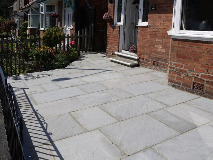 Natural Indian Grey Sandstone Patio Paving Flags Slabs 18m2 Coverage