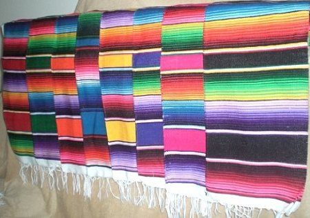 Amazon Com Mexican Serape Blanket Table Runner 72 Quot By 12