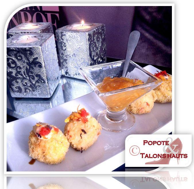 Popote & Talons hauts: Bouchée de homard et saumon fumé, salsa épicée à l...