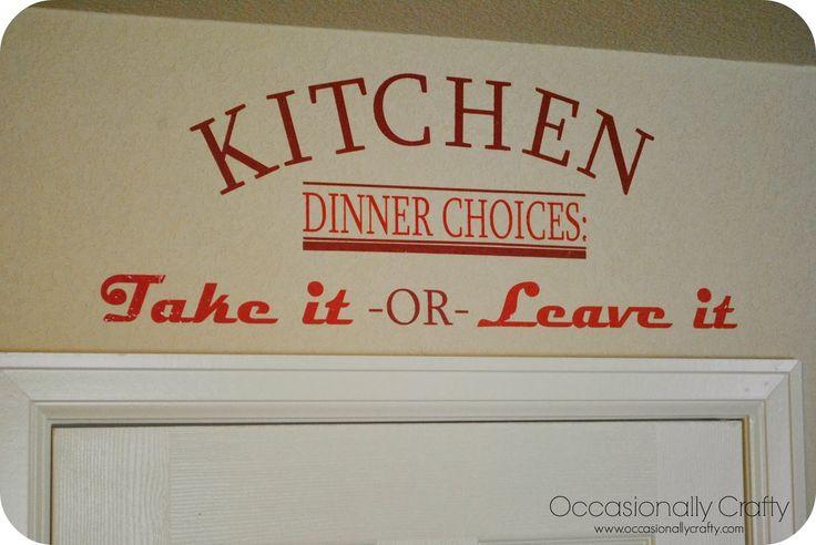 Vinyl Kitchen Saying