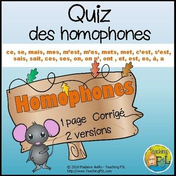 1550 best best french teaching ideas images on pinterest french quiz homophones en franais on sale right now for 25 off with coupon fandeluxe Image collections