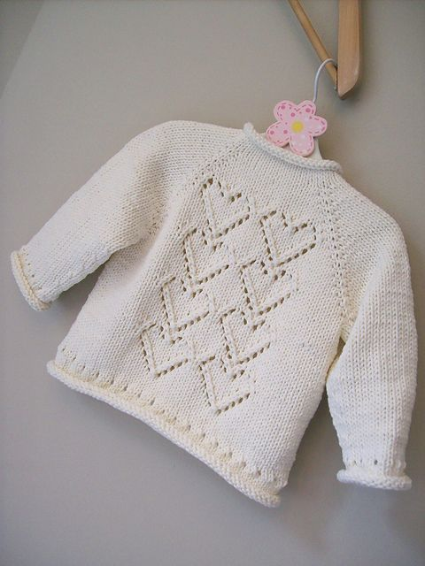 Ravelry: Project Gallery for Cupid baby cardigan pattern by Melissa Schaschwary