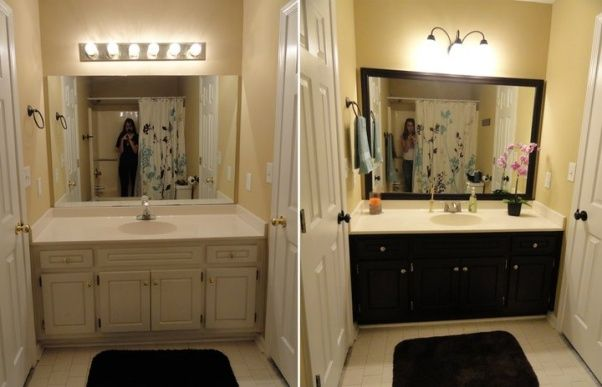 Simple Guest Bathroom Update Amazing What A Coat Of Paint On The Cabinets N