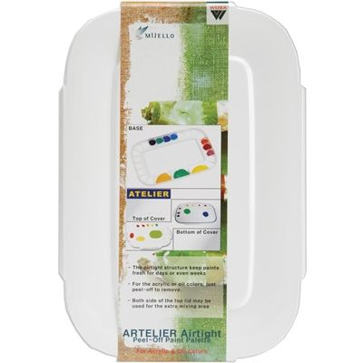 Weber-Atelier Peel Off Paint Palette. The airtight structure of this palette keeps your paints fresh for days and even weeks.
