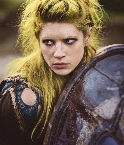 "After returning to Denmark to fight a civil war, Ragnar divorced Lagertha to marry the daughter of King Herrauðr of Sweden. He sent to Norway for help, & Lagertha, who still loved him, came to his aid w/120 ships. Lagertha saved the day:""Lagertha, who had a matchless spirit...flew round to the rear of her enemy, taking them unawares, and thus turned the panic of her friends into the camp of the enemy."" Upon returning to Norway, she quarreled w/her husband & slew him & usurped him."