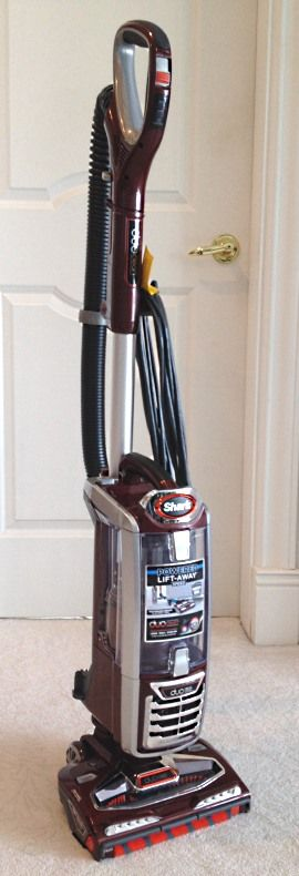 This is the new Shark Rotator Powered Lift-Away Speed with DuoClean Technology (model NV801). It sports both Lift Away Technology and DuoClean Technology. Having 2 brushrolls may seem a little odd but it works well. Pickup on carpet and bare floors is very good, as is the machine's ability to rid your house of pet hair. We also like the maneuverability of the machine and the easy maintenance.