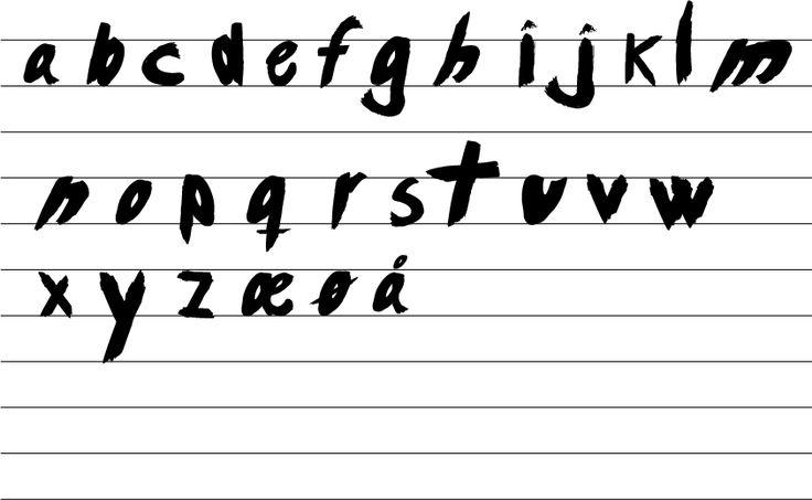 Handmade alfabet