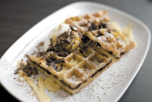 Yea!! Congrats to Alex and the team at Waffles on your big win. If you guys haven't been to Waffles in the South Loop of Chicago, may i just say 3 words: Green Tea Waffles.