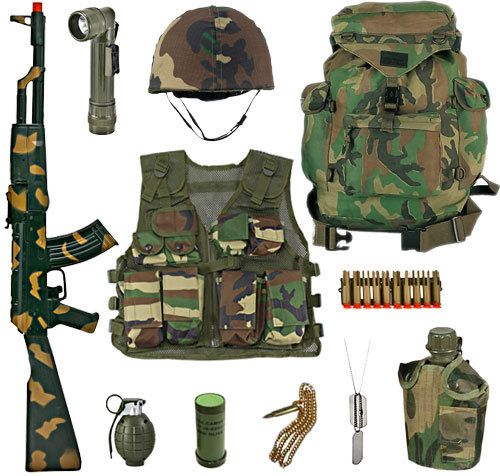 Army Toys For Boys : Kids army platoon leaders full role play set