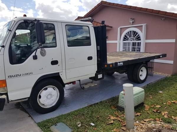 2003 Isuzu Npr 11000 2003 Isuzu Npr Crew Cab Truck Diesel Engine Auto With 218 000 Miles Flatbed Trucks Hialeah Negocial Crew Cab Diesel Engine Trucks