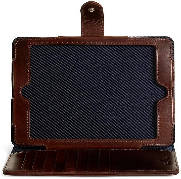 Distressed Leather Mini iPad Case
