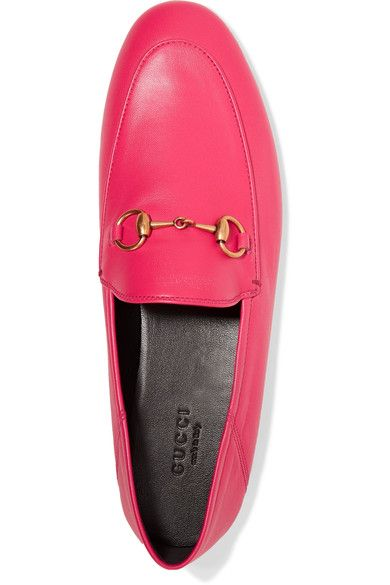 Gucci - Horsebit-detailed Collapsible-heel Leather Loafers - Fuchsia